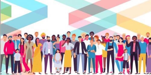 voorblad van het emn jaarverslag met mensen van verschillende nationaliteiten