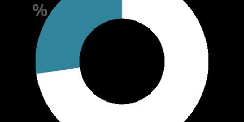 afbeelding van een ringdiagram met een percentage van 22,9%